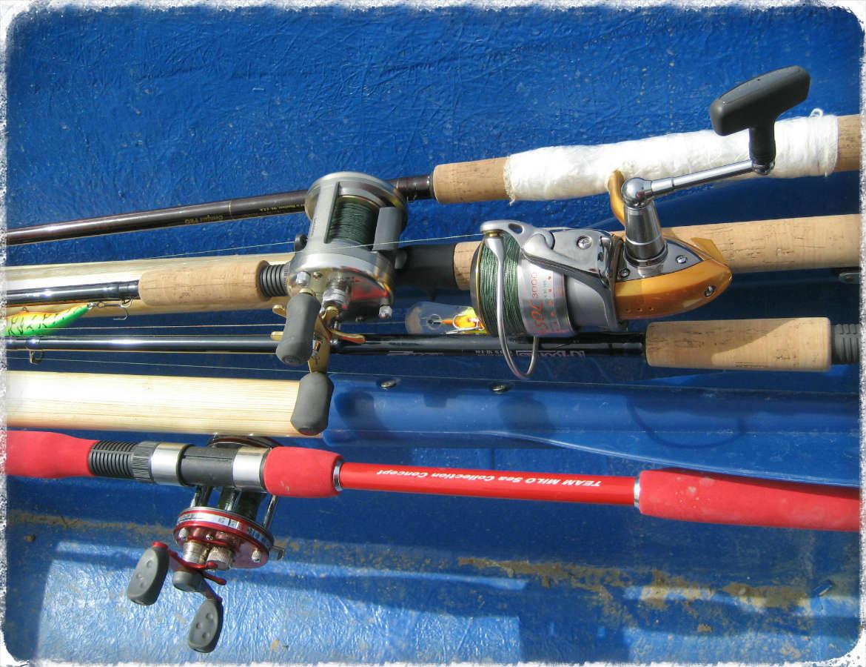 Катушки рыболовные для разных снастей.